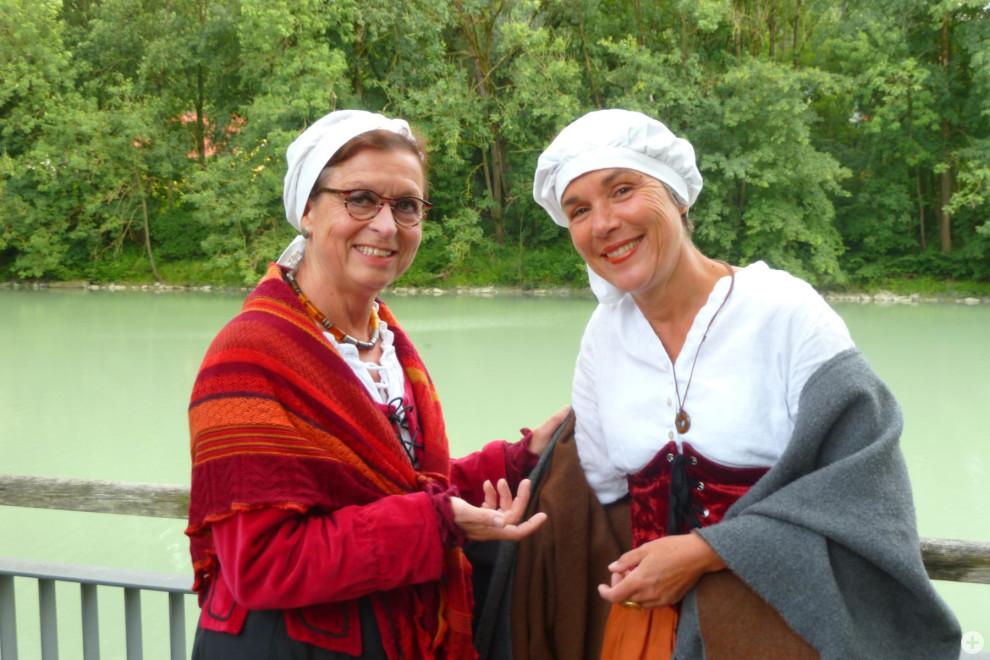 Stadtführerinnen Kornelia Funke und Gisela Sporer