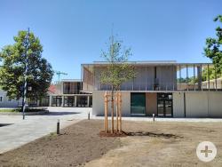 Außenansicht der neuen Grundschule