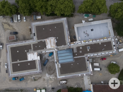 Luftbild der neuen Grundschule