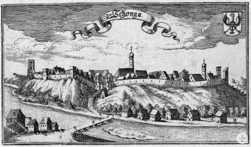 Ansicht Schongau 1690